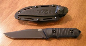 photo of ZT 0160 knife and case