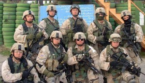 Group photo of a squad in Iraq